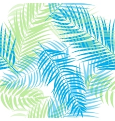 Beautifil palm tree leaf silhouette seamless vector