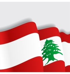 Lebanese waving flag vector