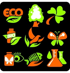 ECO - Green Life - set vector image
