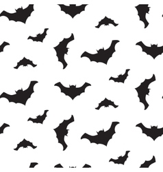 Halloween flying bats seamless pattern vector