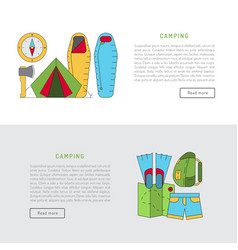 camping icon flat vector image