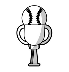 Baseball winner cup prize - shadow vector