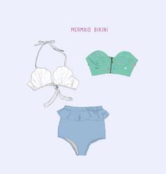 Set of swimwear vector