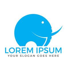 elephant logo design vector image