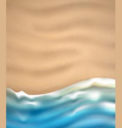 Sea wave on sandy beach coast vector