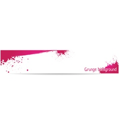 Pink grungy banner vector