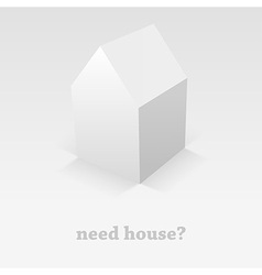 shadow house vector image