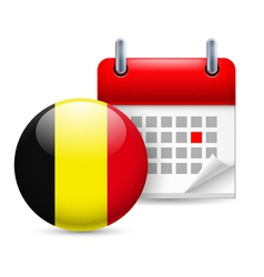 Icon of national day in belgium vector