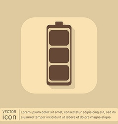 Charged battery symbol a charged battery icon vector
