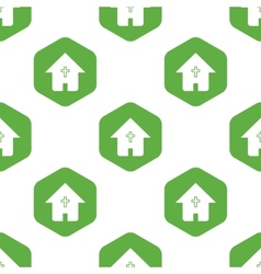 Christian house pattern vector
