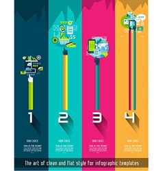 Original Style InfoOriginal Style Infographics vector image