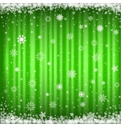 The green snowy background vector