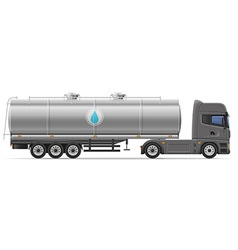 Truck semi trailer 09 vector
