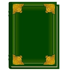 Old green book koran holy quran closed book with vector
