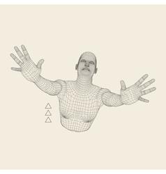 3D Model of Man Polygonal Geometric Design vector image