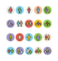 Family Icons 1 vector image
