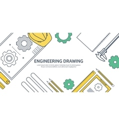 Lined outline  engineering vector