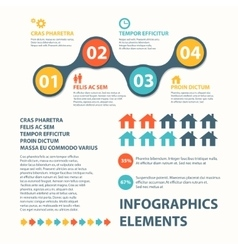 Business infographics circle origami style can be vector