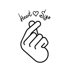 The hand folded into a heart symbol vector