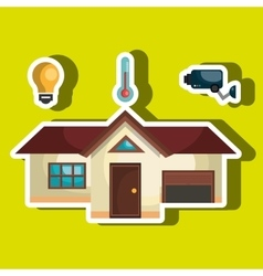 Smart home with set services isolated icon design vector