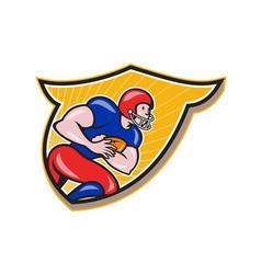 American football running back rushing shield vector