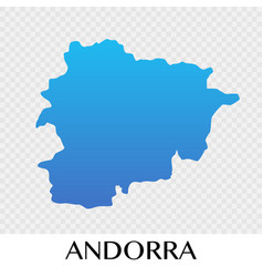 Andorra map in europe continent design vector