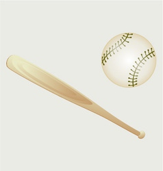 Baseball and Bat vector image vector image