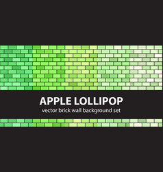 Brick pattern set apple lollipop seamless vector