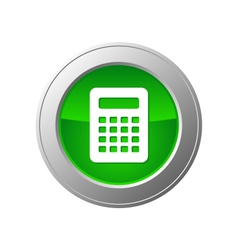 calculator button vector image
