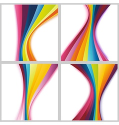 Collection rainbow cards templates vector image vector image