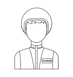Courier icon in outline style isolated on white vector image