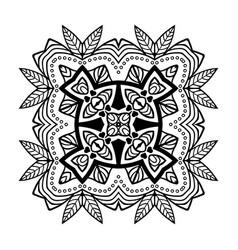 decorative hand drawn mandala ethnic decorative vector image vector image
