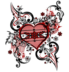 drawing heart vector image vector image