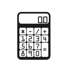 flat calculator sign black vector image