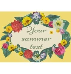 Floral summer frame vector