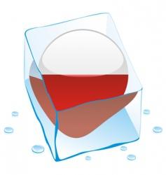 frozen button flag of poland vector image vector image
