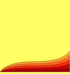 Hot wave abstract background from curved layers - vector