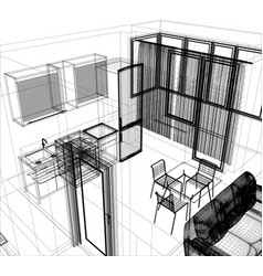 Layout of the apartment vector