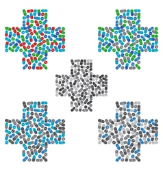 Medical cross logo design template Medicine vector image
