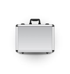 metal briefcase vector image