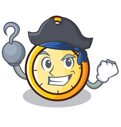 Pirate chronometer character cartoon style vector