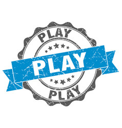 Play stamp sign seal vector