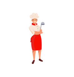 professional restaurant chef in uniform with hat vector image vector image