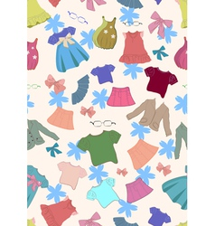 seamless background with children clothes vector image vector image