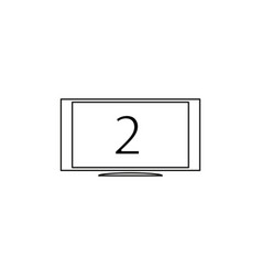 second monitor icon vector image vector image