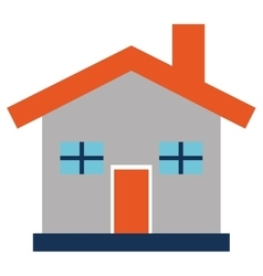 simple house icon vector image