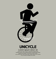Unicycle Graphic Sign vector image