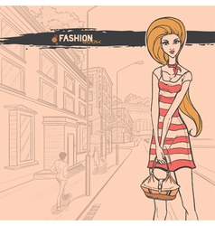 Urban fashion vector image