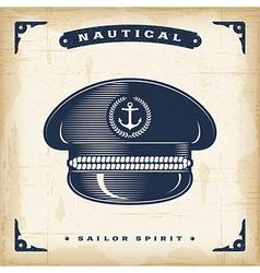 Vintage Captain Hat vector image vector image