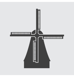 Windmill in Netherlands icon vector image vector image